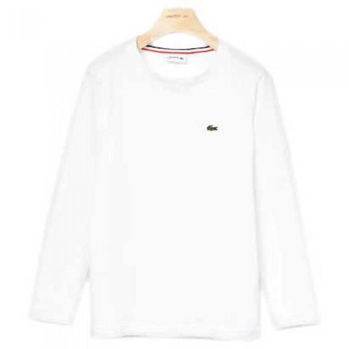 [해외]라코스테 Crew Neck Long Sleeve T-Shirt 15137336641 White