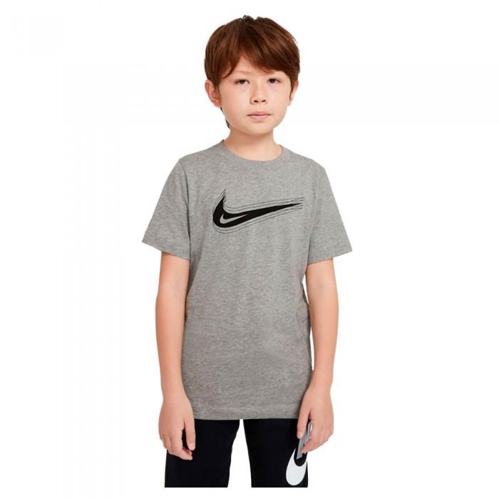 [해외]나이키 Swoosh Short Sleeve T-Shirt 15137982520 Dk Grey Heather / Black