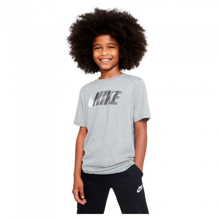 [해외]나이키 Swoosh Short Sleeve T-Shirt 15137983423 Dk Grey Heather / White