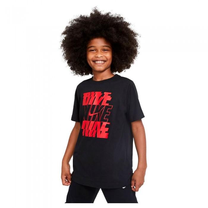 [해외]나이키 Stack Short Sleeve T-Shirt 15137983563 Black / University Red