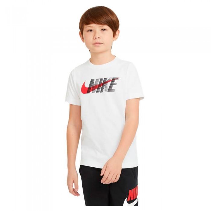 [해외]나이키 Swoosh Short Sleeve T-Shirt 15137983720 White / University Red
