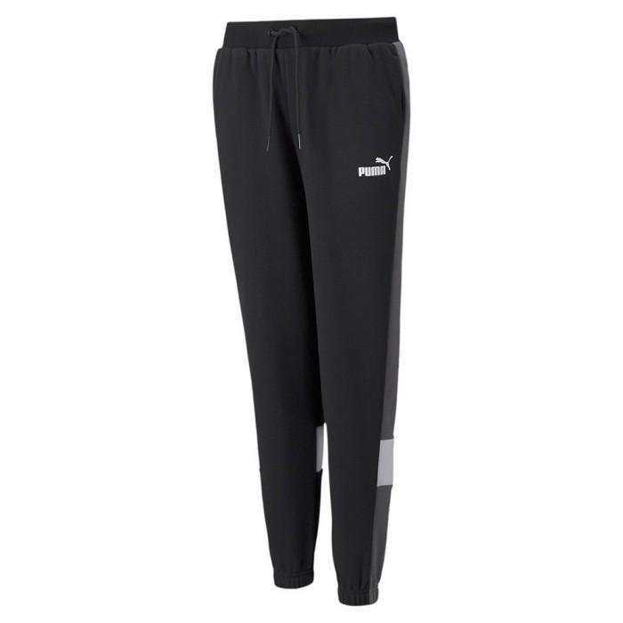 [해외]푸마 Essential+Colorblock Pants 15138054248 Puma Black 1