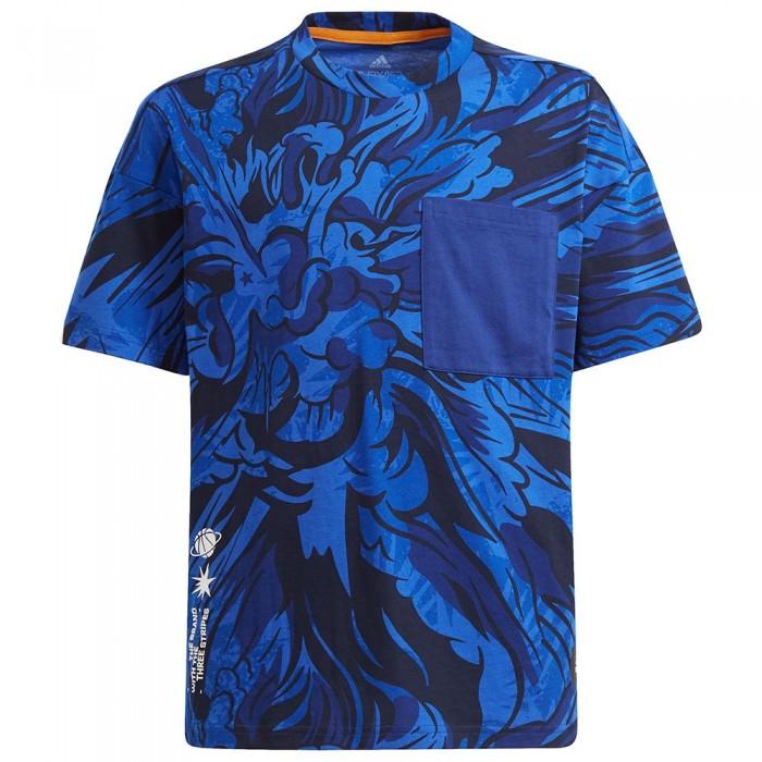 [해외]아디다스 Arkd3 Short Sleeve T-Shirt 15138108296 Victory Blue / White