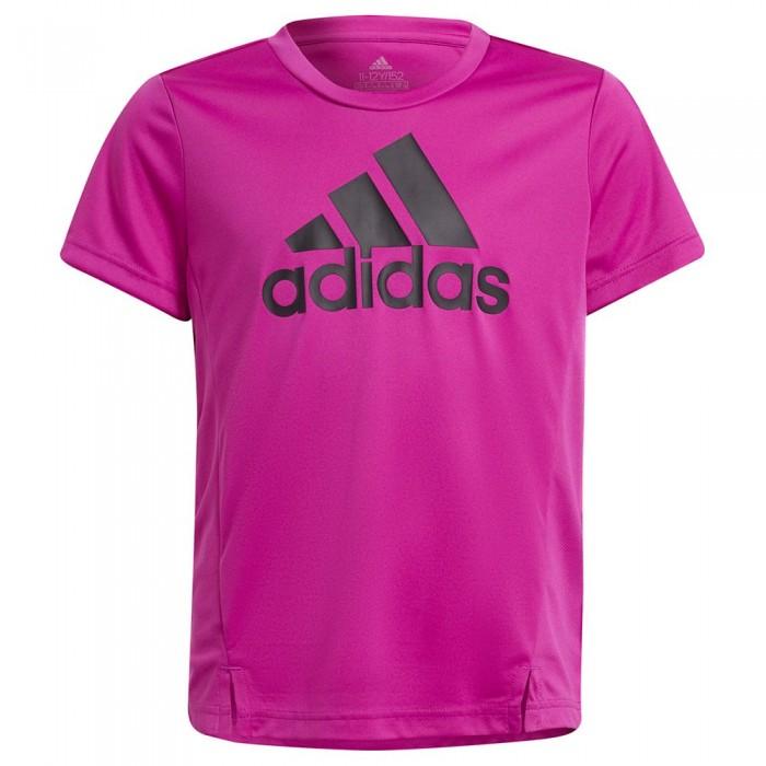 [해외]아디다스 Bl Short Sleeve T-Shirt 15138108301 Sonic Fuchsia / Black