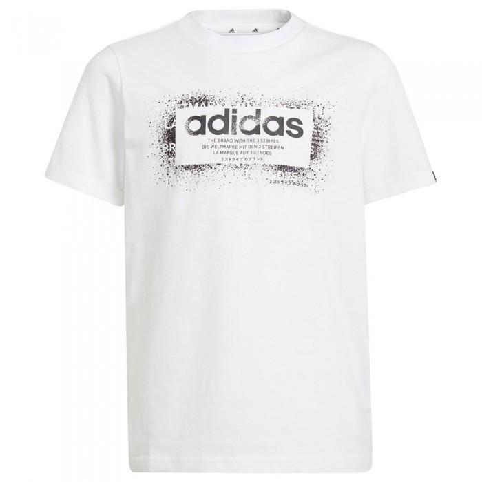 [해외]아디다스 GFX 1 Short Sleeve T-Shirt 15138108314 White / Black