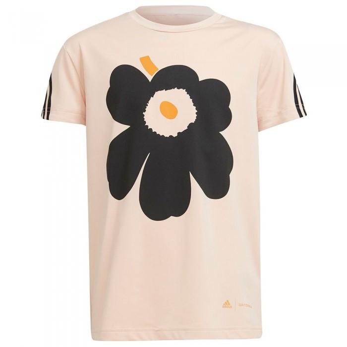 [해외]아디다스 AR Marimekko U Short Sleeve T-Shirt 15138108515 Halo Blush / Black