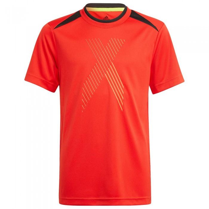 [해외]아디다스 AR X Short Sleeve T-Shirt 15138108532 Red / Black