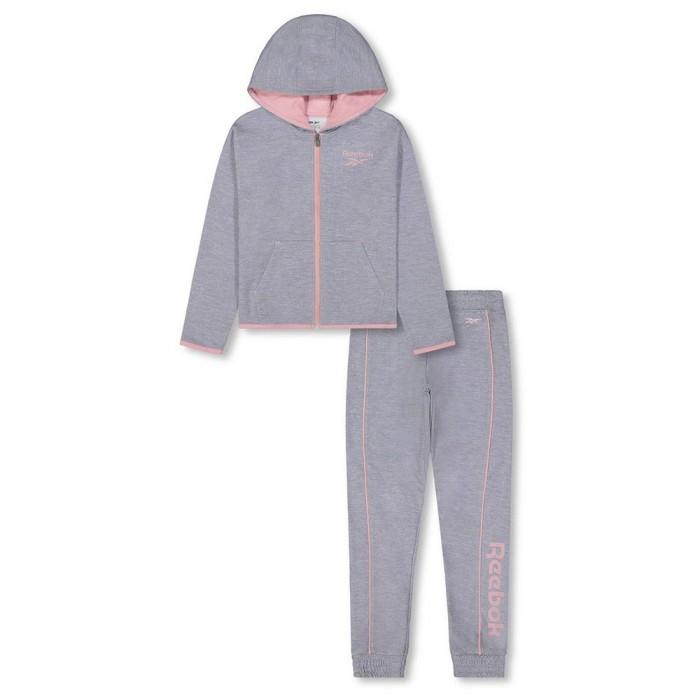 [해외]리복 Color Pop Track Suit Little 15138155490 Light Grey