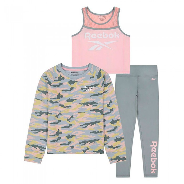 [해외]리복 Camo Pop Over Track Suit Little 15138155499 Powder Pink