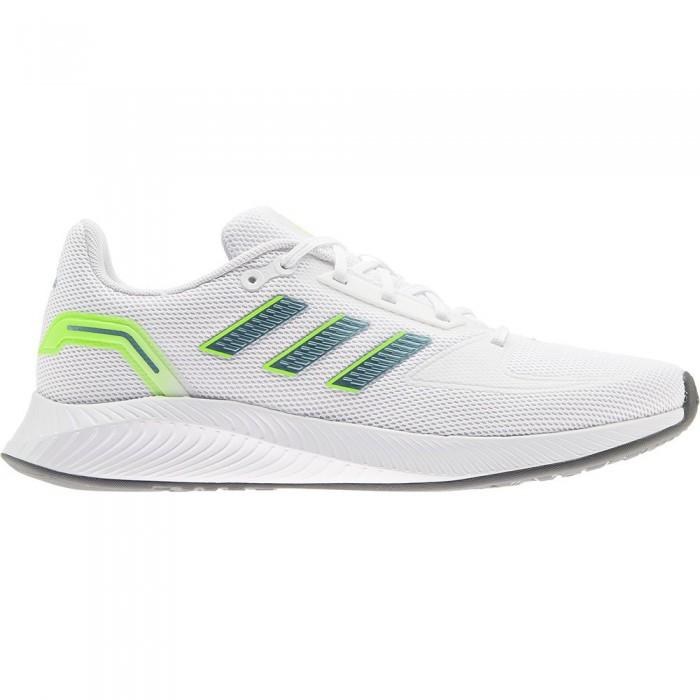 [해외]아디다스 Runfalcon 2.0 Running Shoes 6138104675 Ftwr White / Vision Metalic / Signal Green