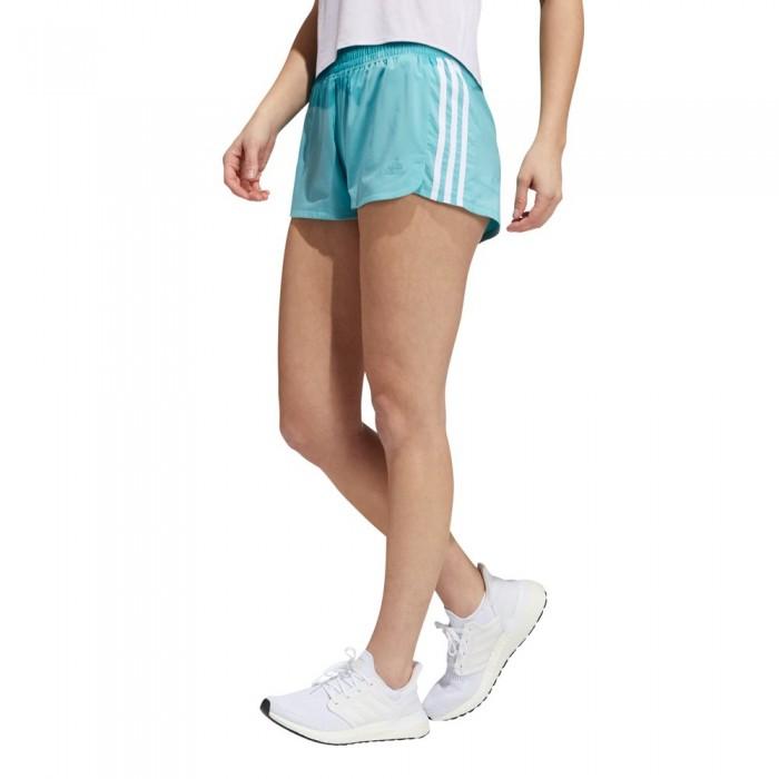 [해외]아디다스 Pacer 3 Stripes Woven Shorts 6138107815 Mint Ton / White