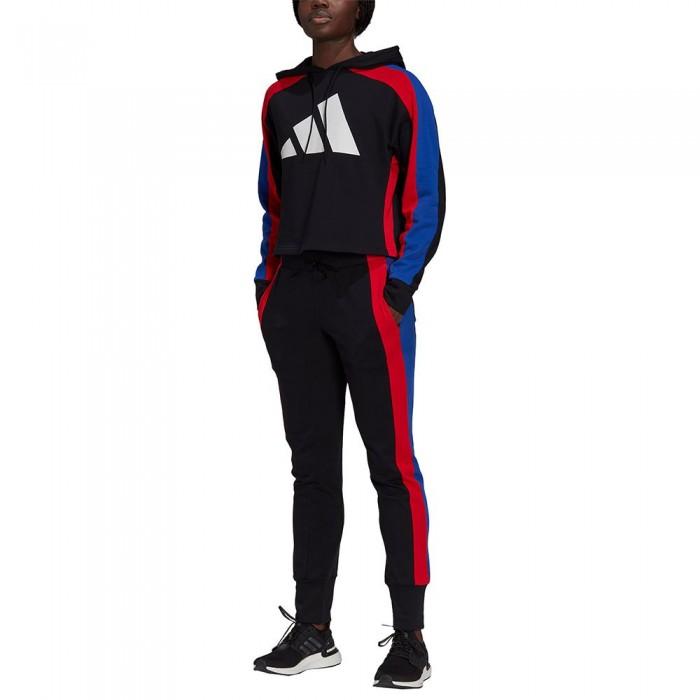[해외]아디다스 Big Logo Track Suit 6138108403 Black / Vivid Red / Bold Blue