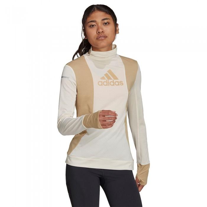 [해외]아디다스 Block Long Sleeve T-Shirt 6138110121 Wonder White / Beige Tone