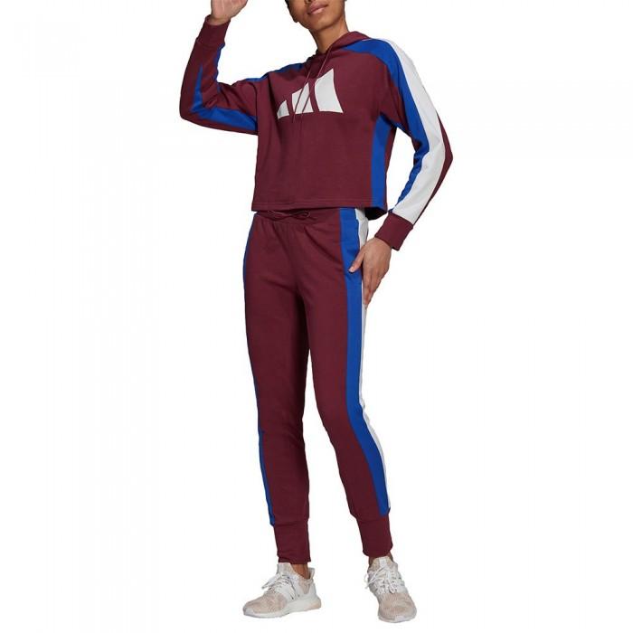 [해외]아디다스 Big Logo Track Suit 6138110312 Victory Crimson / Bold Blue / White