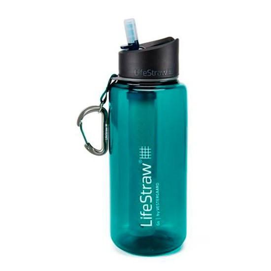 [해외]LIFESTRAW Water Filter Bottle Go 1L 6138101842 Dart Teal