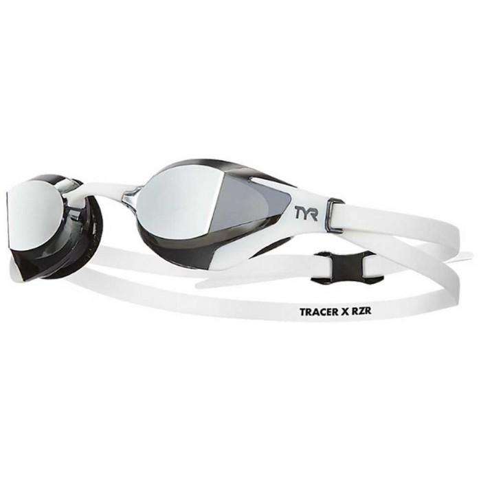 [해외]티어 Tracer x RZR Mirror Swimming Goggles 6138106769 Silver / White / White