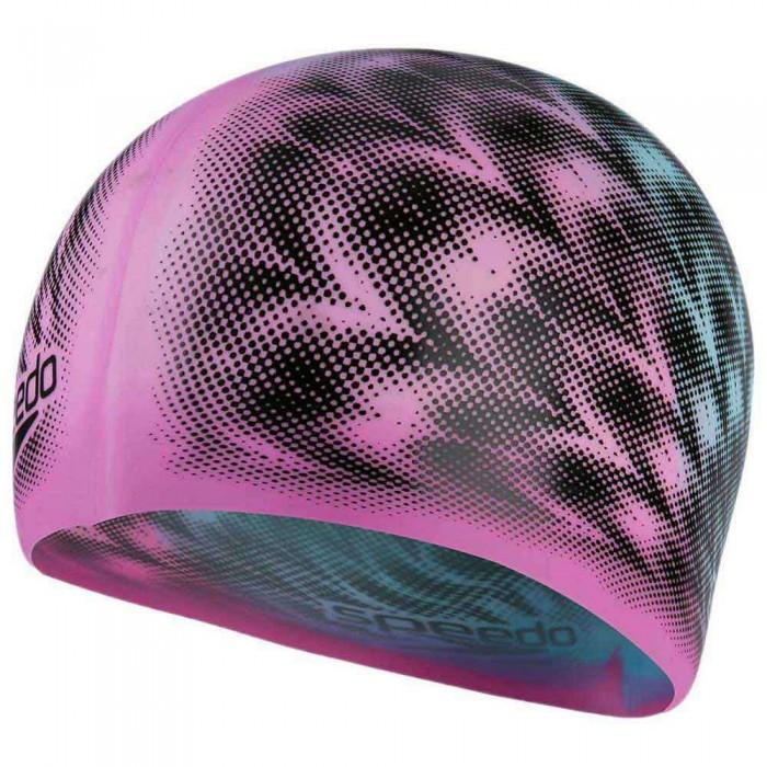 [해외]스피도 Slogan Swimming Cap 6138196491 Ultra Pink / Light Adriatic / Black