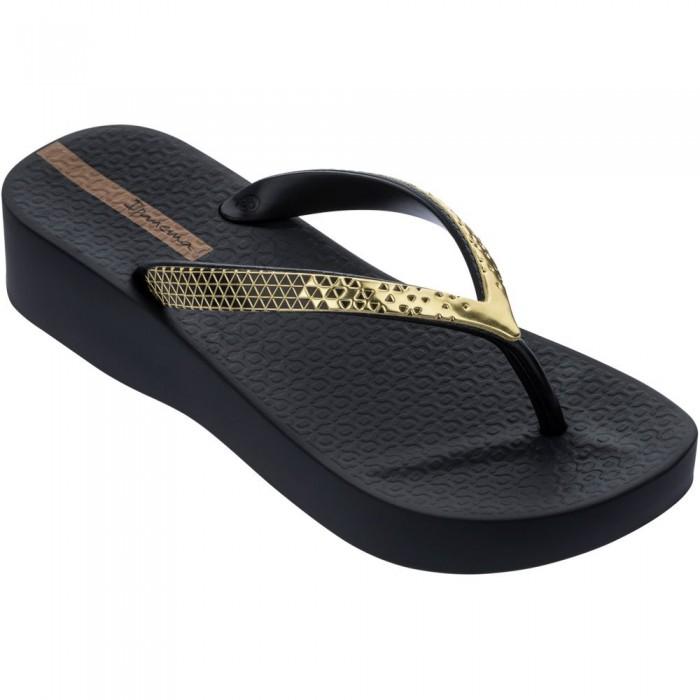 [해외]IPANEMA Mesh VI Platform Flip Flops 6138299117 Black / Gold