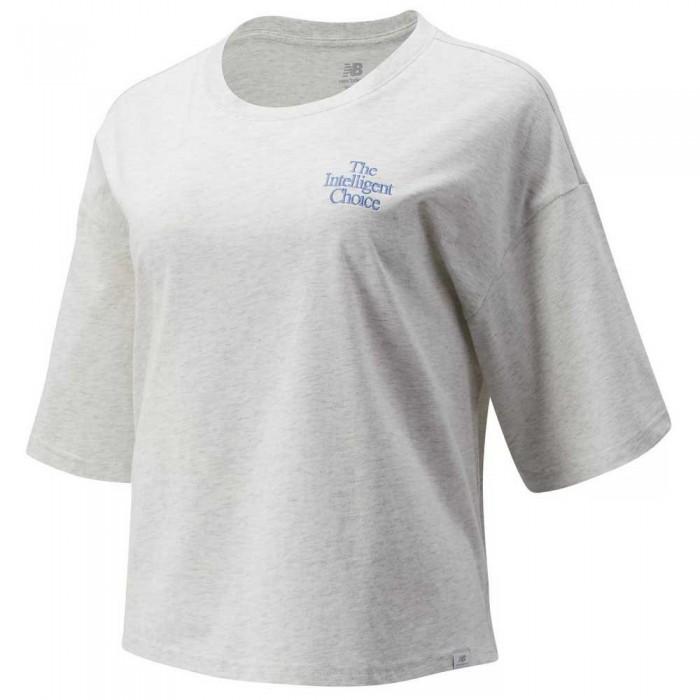 [해외]뉴발란스 Intelligent Choice Short Sleeve T-Shirt Sea Salt Heather