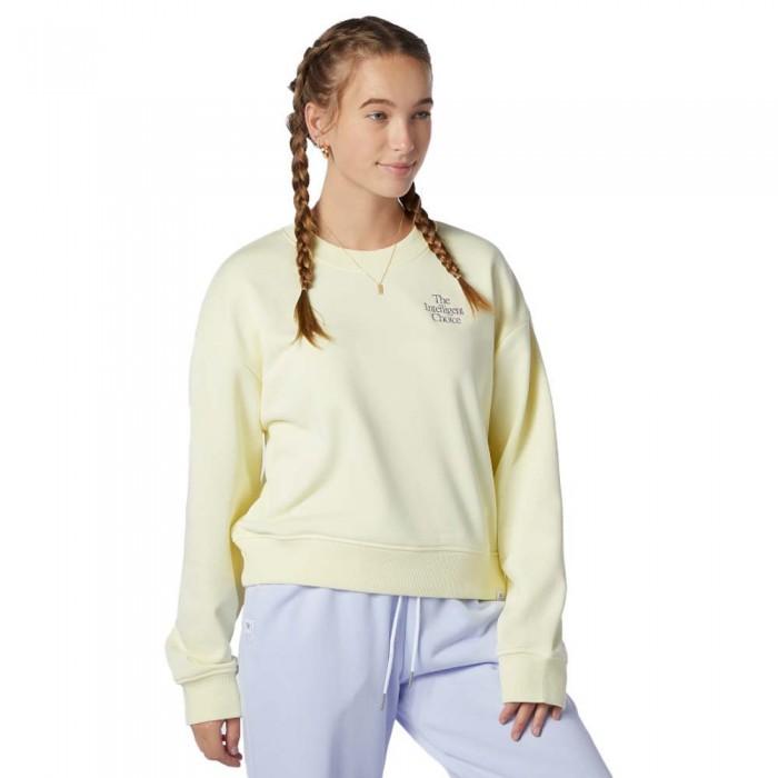 [해외]뉴발란스 Intelligent Choice Crew Sweatshirt Saturn Yellow