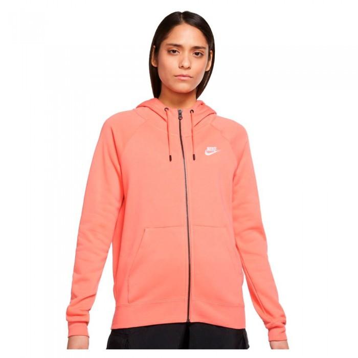 [해외]나이키 Sportswear Essential Full Zip Sweatshirt Magic Ember / White
