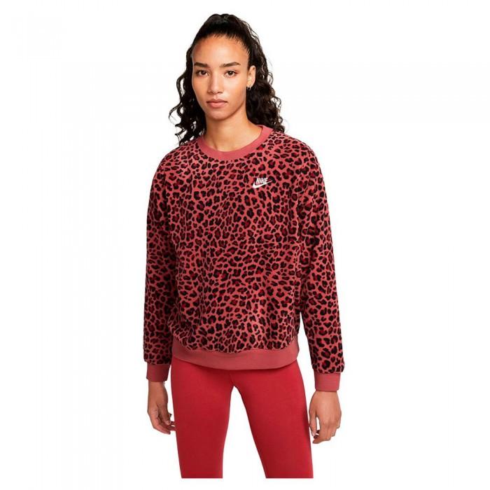 [해외]나이키 Sportswear Fleece Aop Crew Sweatshirt Cedar