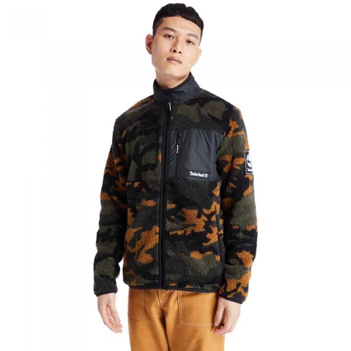 [해외]팀버랜드 Camo Sherpa Jacket Duffel Bag / Wheat Boot House Camo / Black