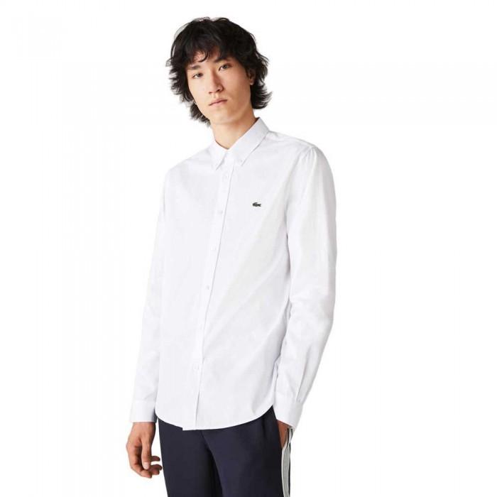 [해외]라코스테 Regular Fit Premium Long Sleeve Shirt White