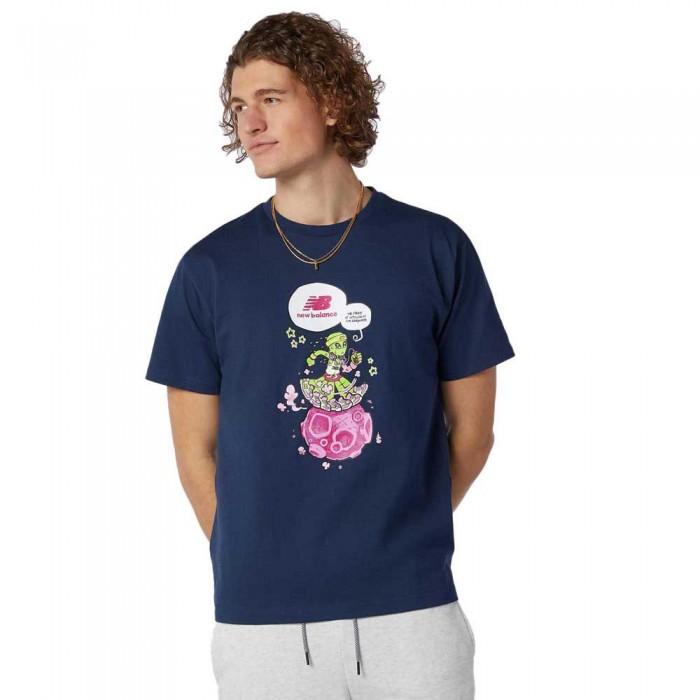 [해외]뉴발란스 Artist Levitzo Short Sleeve T-Shirt Natural Indigo