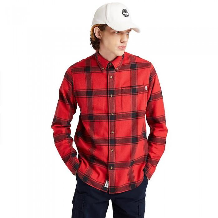 [해외]팀버랜드 Heavy Check Long Sleeve Shirt Scarlet Sage YD