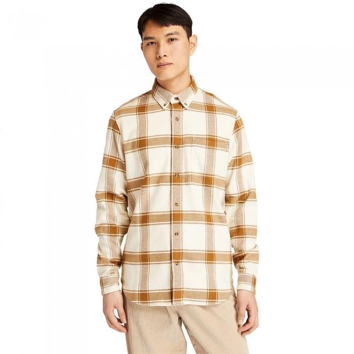 [해외]팀버랜드 Heavy Check Long Sleeve Shirt White Sand YD
