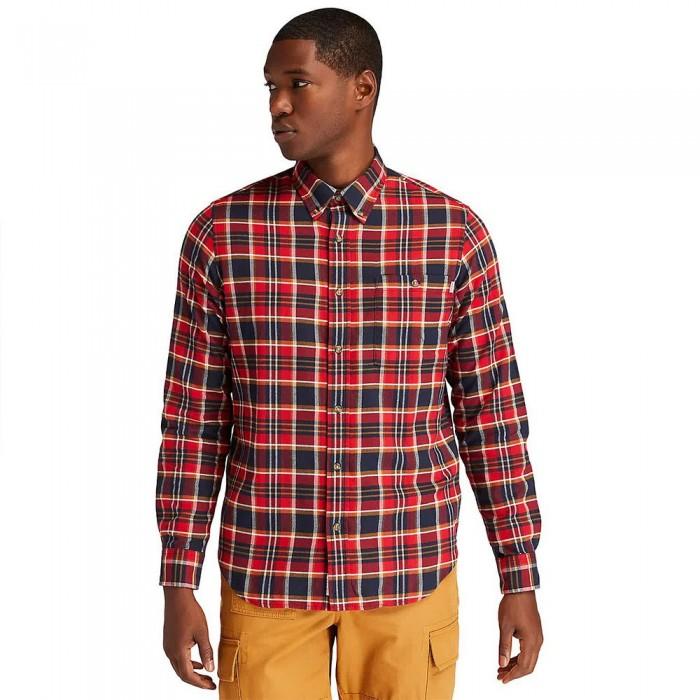 [해외]팀버랜드 Tartan Long Sleeve Shirt Scarlet Sage YD