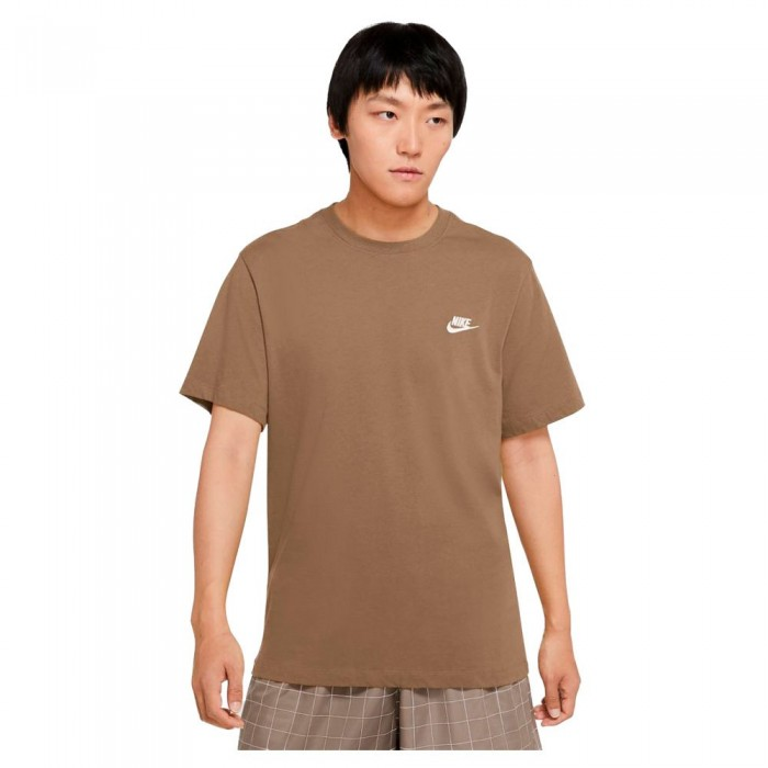[해외]나이키 Sportswear Club Short Sleeve T-Shirt Dk Driftwood / White