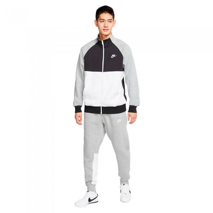 [해외]나이키 Sportswear Fleece Track Suit Dk Grey Heather / Black / White / White