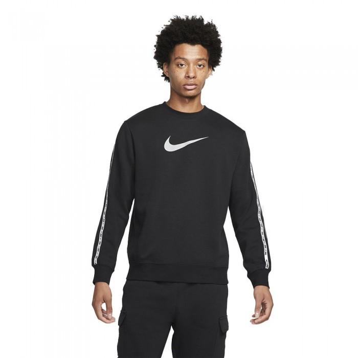 [해외]나이키 Sportswear Repeat Crew Long Sleeve T-Shirt Black / Reflective Silver